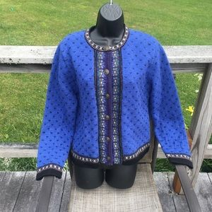 New Tally-Ho Boiled wool cardigan. Timeless!!